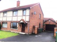 RENT TO OWN OPPORTUNITY - Glen Annesley Drive Bangor - 3 Bed Semi with large Garage/Workshop