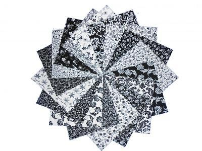 17 8 x8 Quilting Squares Beautiful Black White/no Dupes - $6.49