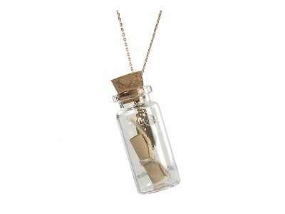 Message In A Bottle Ideas (Goldtone or Silvertone Message in a Bottle Necklace ~ Gift Idea ~)