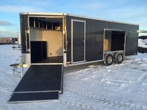 2016 ATC Quest Toy Hauler Enclosed Snowmobile Trailer