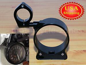 Black Speedometer Relocation Mount Bracket Kit For Harley Sportster XL 883 1200