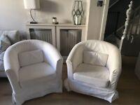 Two Ikea Tullsta Armchairs