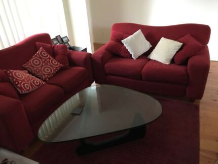 Couches , Rug and cushions