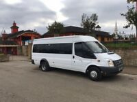 Minibus with driver in and around the West Midlands area