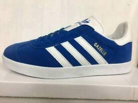 Size 9 Royal Blue Adidas Gazelles free delivery