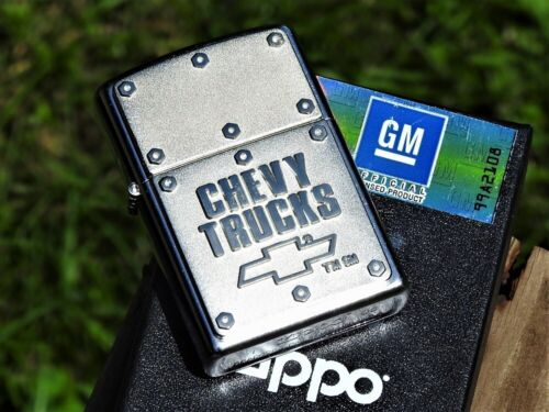 Zippo Lighter - Chevy Trucks Bolts - Chevrolet - GM - Bowtie - Silverado - 3100