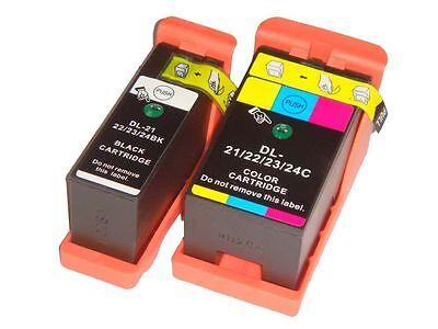2 CARTUCCE DELL 21/22/23/24 COMPATIBILE PER STAMPANTE DELL V715w P513w V313