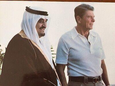 PRESIDENT RONALD REAGAN AND CROWN PRINCE FAHD - Real Photo Postcard - 1981