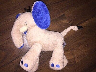 C&A Baby Club Plüschtier Kuscheltier Elefant Braun Grau Blaue Ohren Knister