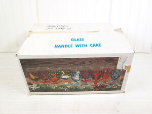 Vintage Indiana Glass 12 Days Of Christmas Drinking Glasses Tumblers Box Retro
