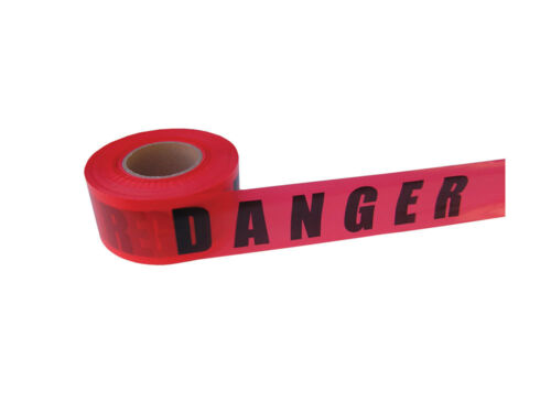 Red DANGER Tape With Bold Black Letters 2.4 Mils Case of 10