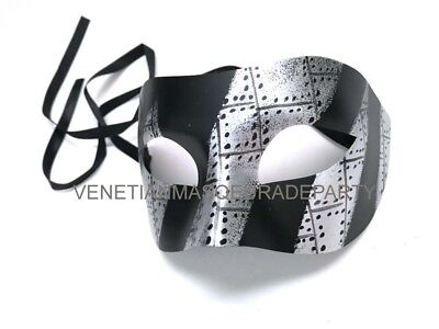 Black Silver masquerade ball lace mask Christmas New Year Eve Party Wear or - Masquerade New Years Eve Party