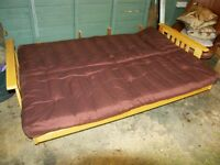 Stylish Double Bed Wooden FUTON: Cheap at £60 o/n/o