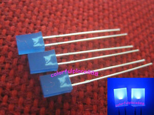 50-2x5x7mm-2x5x7-mm-Rectangle-Blue-Diffused-LED-Lamp-Leds-Blue-Lens-Resistor