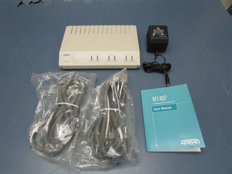Used AdTran NT1 ACE3 with Power Supply