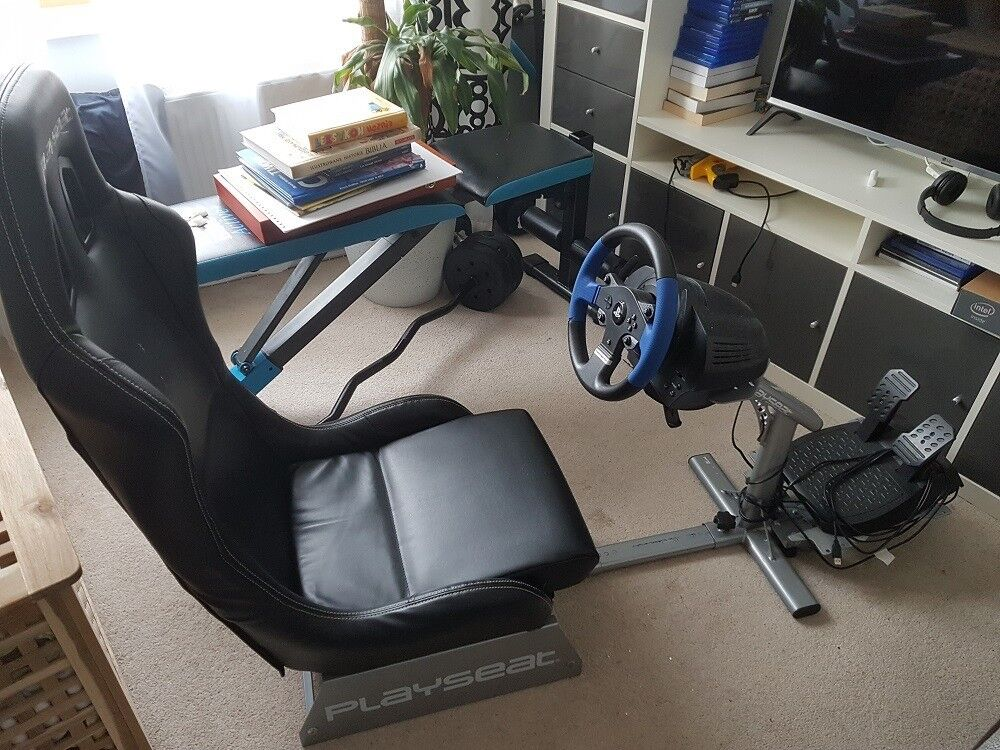 Playseat Evolution Racing Cockpit PC,PS4,Xbox with Thrustmaster T150  Steering Wheel for PS4/PS3/PC | in Plymouth, Devon | Gumtree