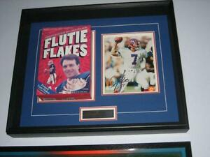NFL CFL FLUTIE Football Bills signed Print + Jays Bobblehead