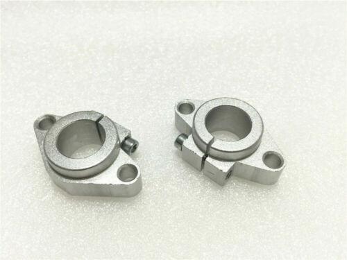 2pcs SHF20 20mm Linear Motion Rod Rail Shaft Guide Support Bracket Bearing CNC