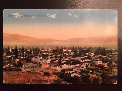 New Vintage Greece Turkey Smyrne Izmir Color Photograph Postcard Bournabat
