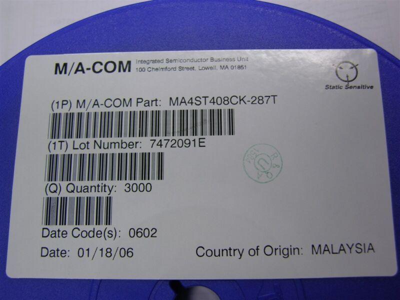 10 Ma-Com MA4ST408CK-287T SMT Hyperabrupt Varactor Diodes SOT-23