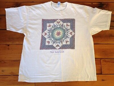 Lancaster Pennsylvania Amish Star Tulip Quilt Womens 100  Cotton T Shirt Xxl 2Xl