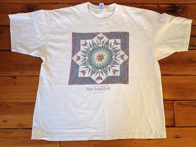 Lancaster Pennsylvania Amish Star Tulip Quilt Womens 100  Cotton T Shirt Xxl 2Xl