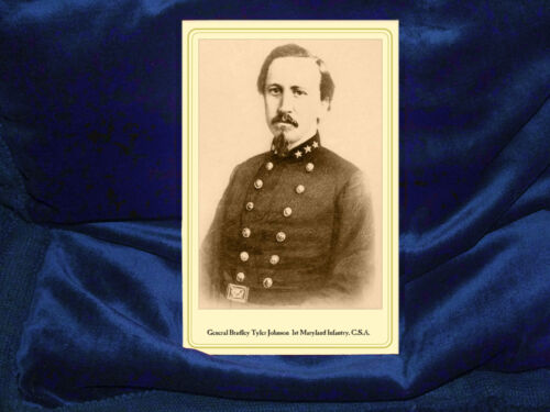 BRADLEY T JOHNSON Confederate General Maryland Infantry Cabinet Card Photograph