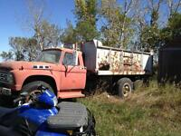 Old Dump Truck - Steel Box - No motor - Box is decent shape