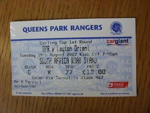 14-08-2007-Ticket-Queens-Park-Rangers-v-Leyton-Orient-Football-League-Cup