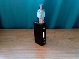 GENUINE CLOUPOR MINI PLUS 50W TC E SHISHA BOX MOD + GS L20 MINI TANK METALLIC BLACK