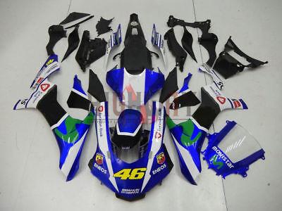 Motorcycle ABS Fairings Body Work Kits Set fit Yamaha YZF R1 15-16 black blue