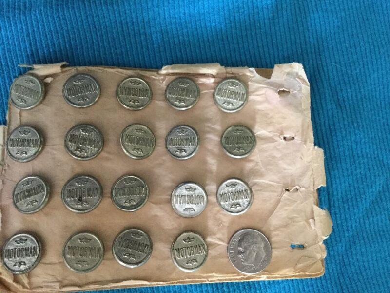 Vintage Railroad Buttons