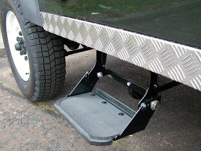 Folding Side Step Replacement Mud Terrain Tread Land Rover Defender DA4814