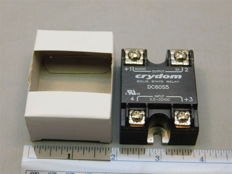 Crydom DC60S5 3.5-32VDC Control, 60VDC 5A Load Solid State Relay NEW