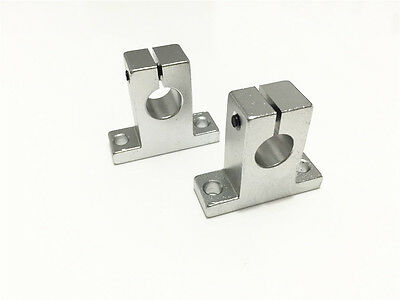 2pcs Sk10 10mm Aluminum Linear Rail Shaft Guide Support Bearing Sh10a Cnc Parts