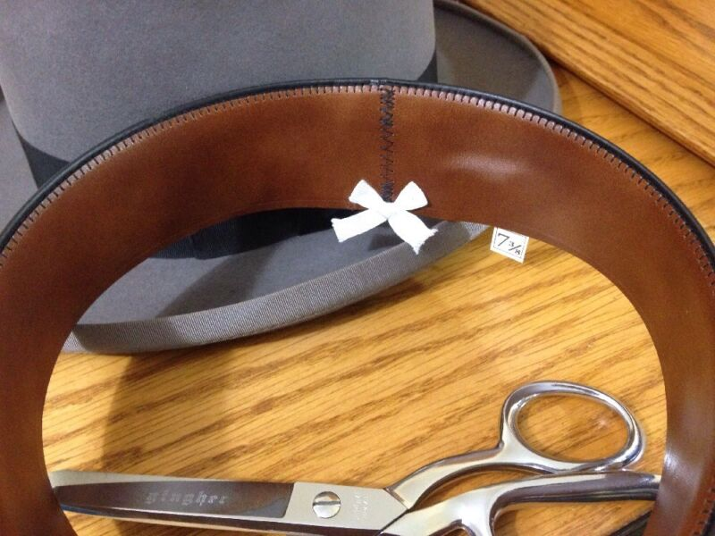 Cowboy Western Panama Fedora Hat Leather Replacement Sweatband Cut Sewn To Size