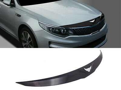 Front Bonnet Hood Guard Garnish Molding Black (Fits: KIA 2016-2019 Optima K5)