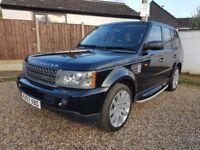 Black 2007 Range Rover Sport 3.6 TDV8 HSE Rear DVD, BLACK LEATHER Finance, P/X, Credit Cards Welcome