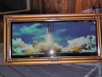 Vintage lighted frame