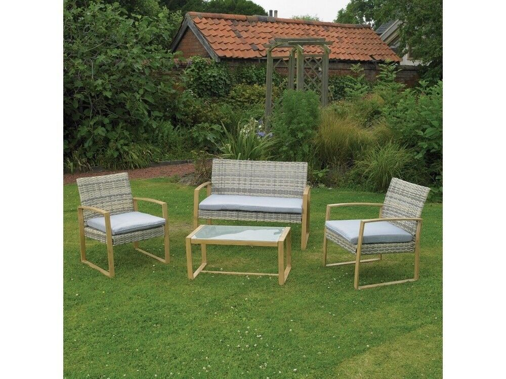Grey Rattan Garden Furniture Uk Free fast uk delivery 4 piece garden cream grey rattan garden free fast uk delivery 4 piece garden cream grey workwithnaturefo