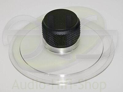 Plattenklemme Schallplattenklemme für Plattenspieler, schwarzer Knauf 35mm hoch (Plattenspieler Für Schallplatten)