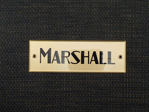 Marshall Plexi Black/Gold Logo 16 (152mm) (DO NOT PURCHASE WITHOUT A MODEL OR SE