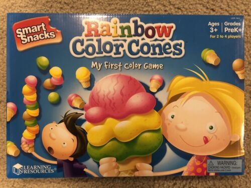 Learning Resources Smart Snacks Rainbow Color Cones My First