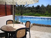 Apartment with pool and roof terrace for long term winter lets holidays in Paphos Cyprus, sleeps 6