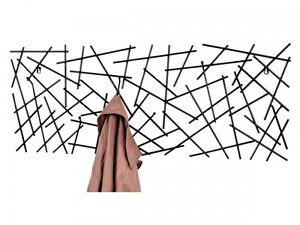 MIKELE Wandgarderobe Garderobenleiste Hakenleiste Wandhaken Metall Anthrazit