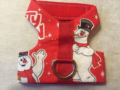 Frosty The Snowman Homemade Dog Harness (1143) Size XXXS tiny new puppy