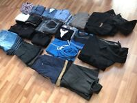 Mens Clothing BUNDLE Size Large. Jeans, Jackets, Jumpers, Shirts, Tops.
