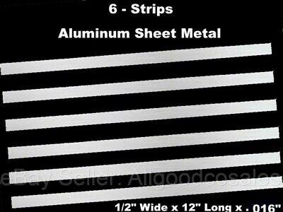 Sheet Metal Strips Aluminum 6 Pack 12 Wide X 12 Long X .016 Mill Finish