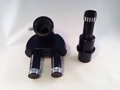 Leitz Wetzlar Trinocular Head With Photo Tube For Panphot Microscope