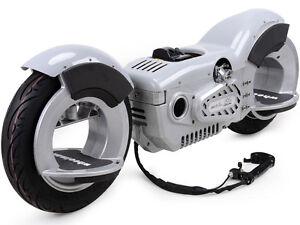 MotoTec Wheelman V2 50cc Gas Skateboard Silver - MT-GWM